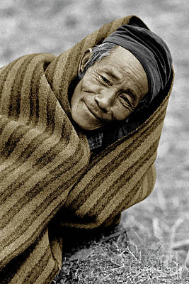 Gurung Man In Blanket - Nepal  Poster by Craig Lovell