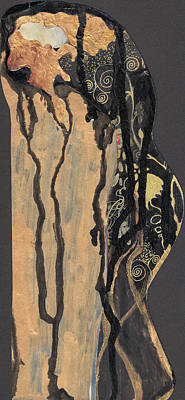 Poster featuring the painting Gustav Klimt's Tears by Maya Manolova