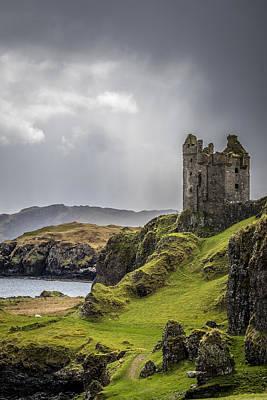 Gylen Castle On Kerrera In Scotland Poster