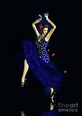 Gypsy Blue Poster by Shanina Conway
