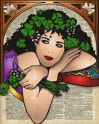 Gypsy Girl On Dictionary Page Poster by Jacob Kuch
