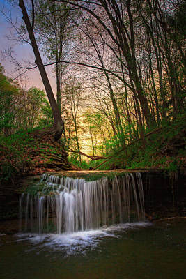 Gypsy Glen  Rd Waterfall  Poster by Emmanuel Panagiotakis