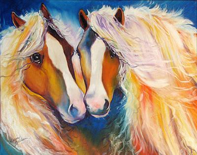Gypsy Vanner Twins Equine Original Poster by Marcia Baldwin