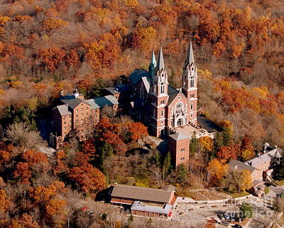 H-001 Holy Hill Fall Poster by Bill Lang