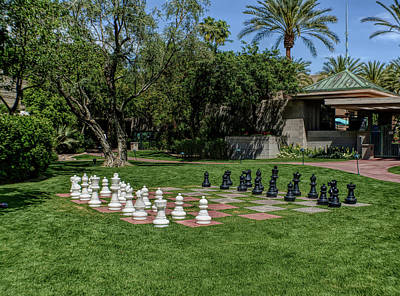 Poster featuring the photograph H D R Chess At The Biltmore by Aimee L Maher Photography and Art Visit ALMGallerydotcom
