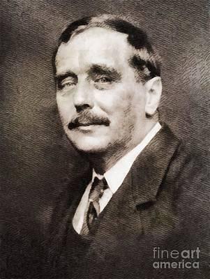 H. G. Wells, Literary Legend Poster by John Springfield