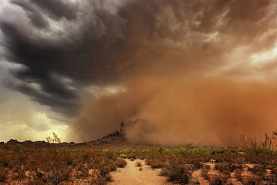Poster featuring the photograph Haboob Is Coming by Rick Furmanek