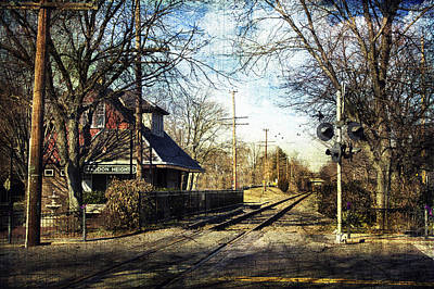 Haddon Heights Train Station Poster by John Rivera