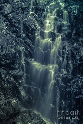 Hadlock Falls In Acadia National Park - Monochrome Poster