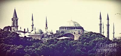 Hagia Sophia Panorama Poster by Sarah Loft