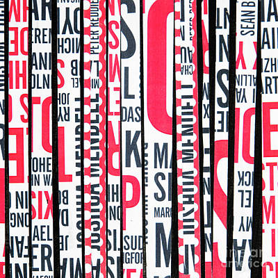 Poster featuring the mixed media Haiku In Red And Black by Elena Nosyreva