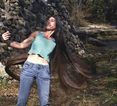 Hair - Long Beautiful Hair-pop Song Art Poster by Debbie May