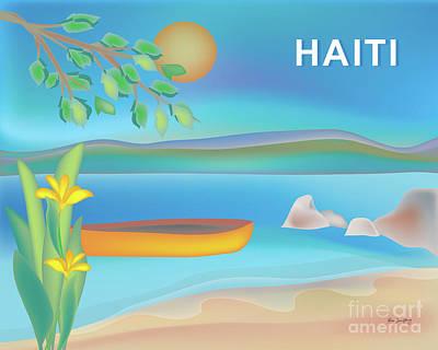 Haiti Horizontal Scene Poster