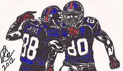 Hakeem Nicks And Victor Cruz Poster by Jeremiah Colley