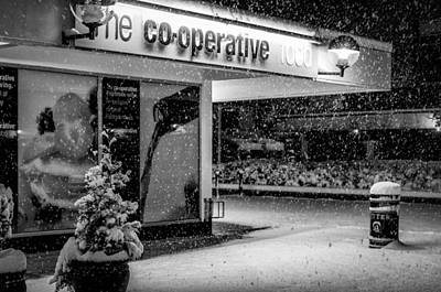 Hale Barns Co-op In The Snow Poster