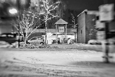Hale Barns Square In The Snow Poster