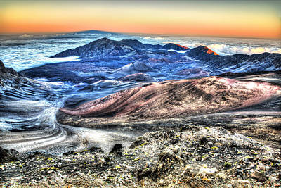 Haleakala Crater Sunset Maui Poster by Shawn Everhart