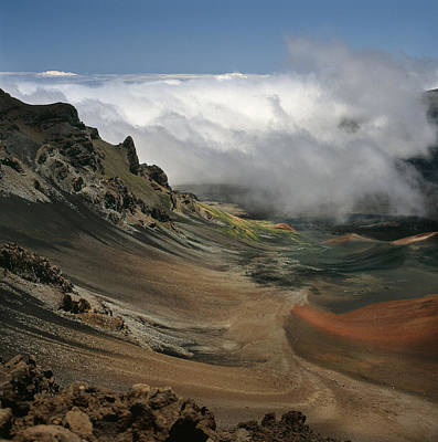 Haleakala Crater And Clouds Poster