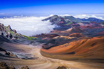 Haleakala Craters Maui Poster by Janis Knight