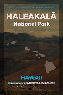 Haleakala National Park In Hawaii Travel Poster Series Of National Parks Number 29 Poster by Design Turnpike