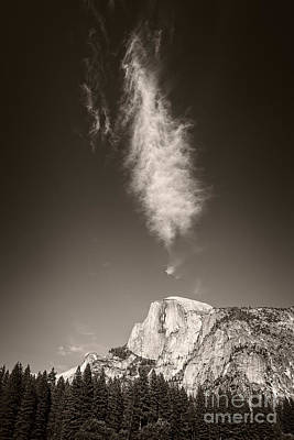 Half Dome And Cloud Poster