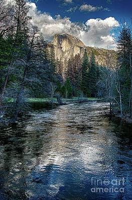 Half Dome And The Merced River In Yosemite Poster