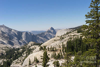 Half Dome And Yosemite Valley From Olmsted Point Tioga Pass Yosemite California Dsc04252 Poster by Wingsdomain Art and Photography