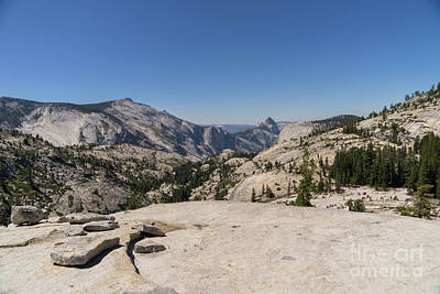 Half Dome And Yosemite Valley From Olmsted Point Tioga Pass Yosemite California Dsc04261 Poster by Wingsdomain Art and Photography
