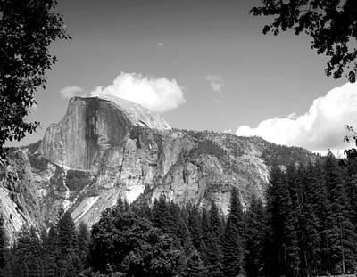 Half Dome Yosemite B And W Poster