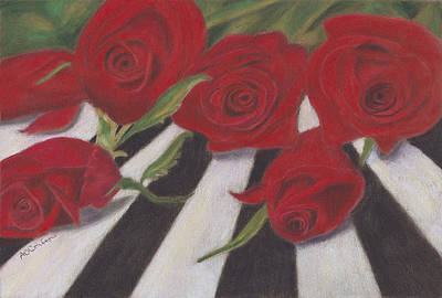 Poster featuring the painting Half Dozen Red by Arlene Crafton