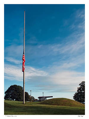Poster featuring the photograph Half Staff by Richard Bean