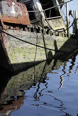Half Sunk Boat Poster