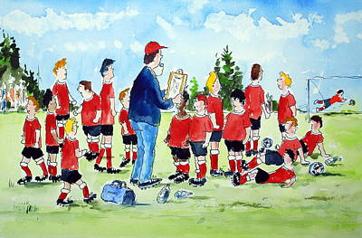 Half Time Pep Talk Poster by Wilfred McOstrich