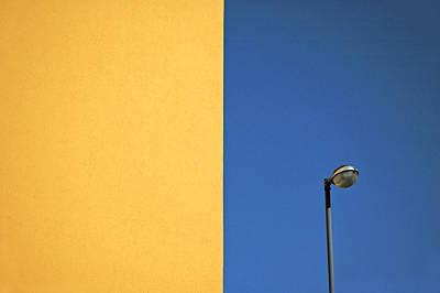 Half Yellow Half Blue Poster by Silvia Ganora