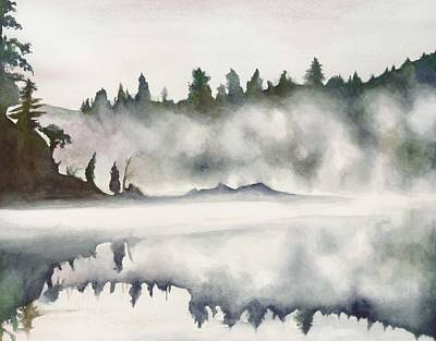 Poster featuring the painting Haliburton Morning by Nadine Dennis