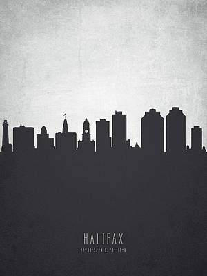 Halifax Nova Scotia Cityscape 19 Poster by Aged Pixel