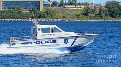 Halifax Regional Police Force Harbor Patrol Boat Poster