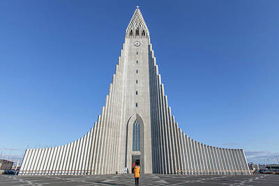 Poster featuring the photograph Hallgrimskirka by Wade Courtney