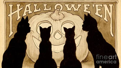 Halloween Card Poster by American School