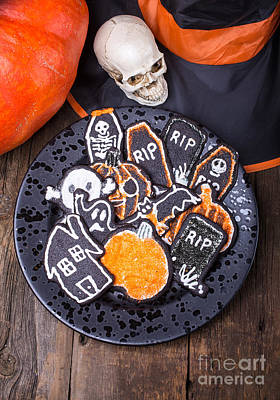 Halloween Cookies Poster by Edward Fielding
