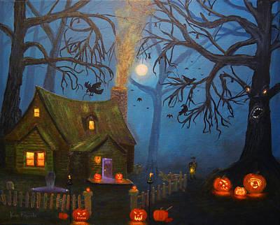 Halloween Night Poster by Ken Figurski