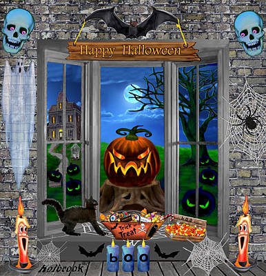 Halloween Night Stalker Poster by Glenn Holbrook