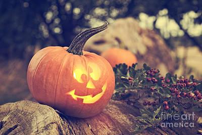 Halloween Pumpkin Poster by Amanda Elwell