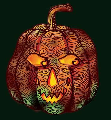 Halloween Pumpkin Poster by Irina Effa