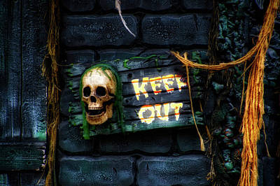 Halloween Skull Keep Out Signage Poster