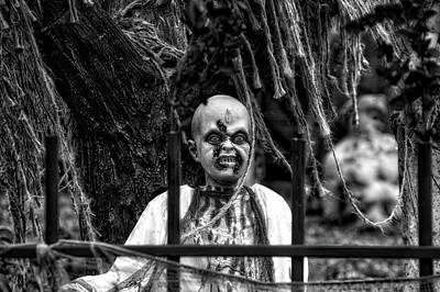 Halloween Zombies The Day After 04 Bw Poster