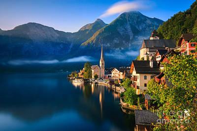 Hallstatt Is A Village In The Salzkammergut, A Region In Austria Poster by Henk Meijer Photography