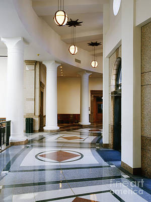 Hallway In Texas State Capitol Poster by Jeremy Woodhouse