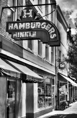 Hamburgers In Indiana Bw Poster by Mel Steinhauer