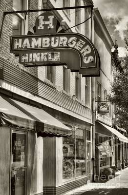 Hamburgers In Indiana Sepia Tone Poster by Mel Steinhauer